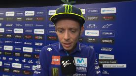 The Movistar Yamaha rider explains what happened with his back, at his home GP, after finishing 7th