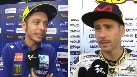 We catch up with the MotoGP™ riders to get their thoughts after the thrilling race at the Misano World Circuit Marco Simoncelli