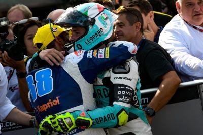 Dream debut win for Dalla Porta in dramatic Moto3™ race