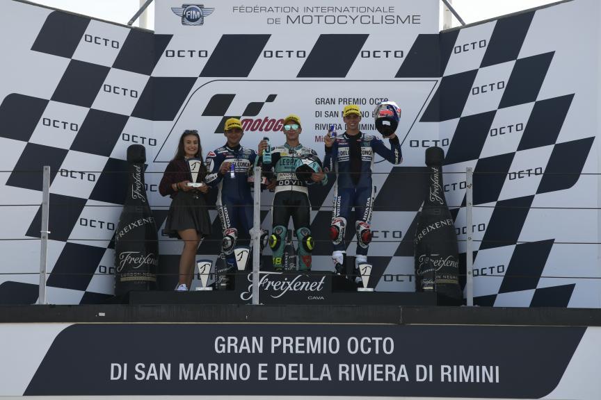 Lorenzo Dalla Porta, Jorge Martin, Fabio Di Giannantonio, Gran Premio Octo di San Marino e della Riviera di Rimini