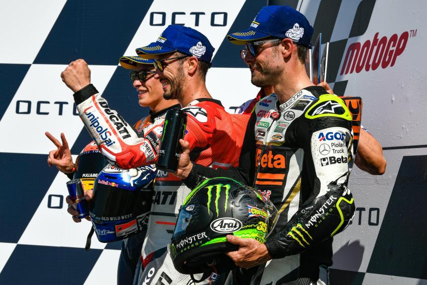 Andrea Dovizioso, Marc Marquez, Cal Crutchlow, Gran Premio Octo di San Marino e della Riviera di Rimini