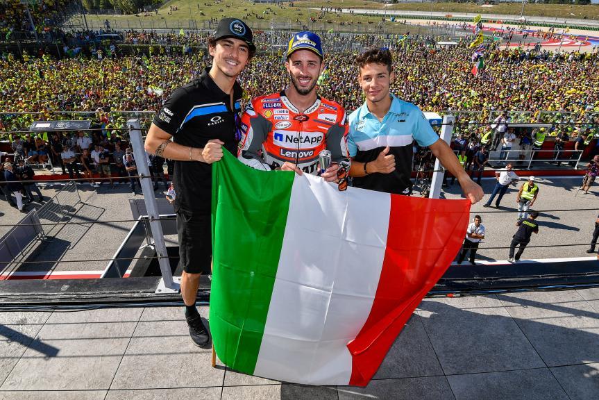 Andrea Dovizioso, Francesco Bagnaia, Lorenzo Dalla Porta, Gran Premio Octo di San Marino e della Riviera di Rimini