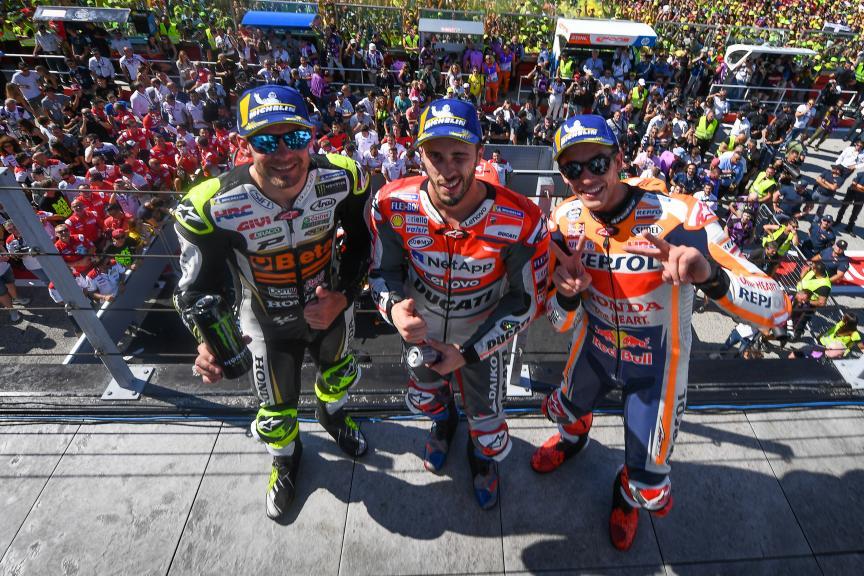 Andrea Dovizioso, Cal Crutchlow, Marc Marquez, Gran Premio Octo di San Marino e della Riviera di Rimini