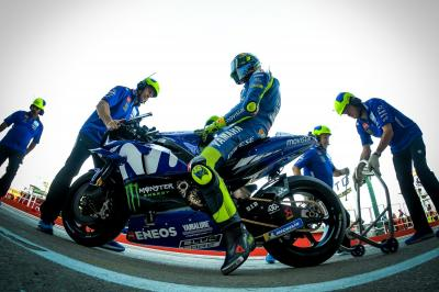 Sunday temperatures halt Yamaha progress at Misano