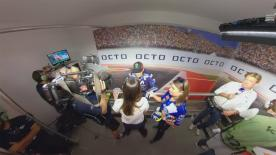 Jump into the post-race action as riders speak with journalists in this 360 degree video