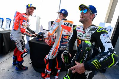 Behind the scenes celebrations with Crutchlow