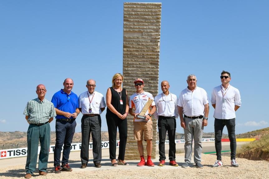 Marc Marquez monument, Gran Premio Movistar de Aragón