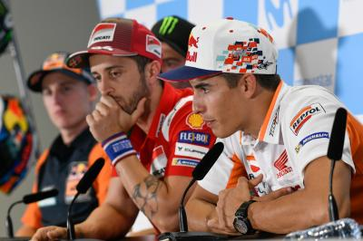 Who is Marquez most worried about, Dovi or Lorenzo?