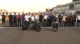 Der offizielle Moto2™ Motorpartner ab 2019 brachte die neuen Motoren für die Teams ins MotorLand Aragon