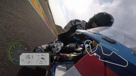 Jump on board to experience all of the excitement of riding a lap around the Spanish circuit, shot on the iconic action cameras
