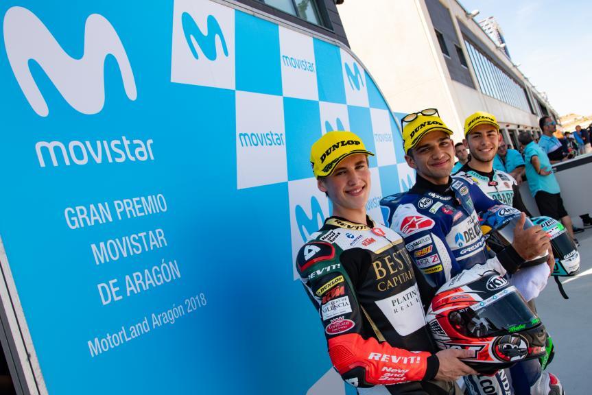 Jorge Martin, Jaume Masia, Enea Bastianini, Gran Premio Movistar de Aragón