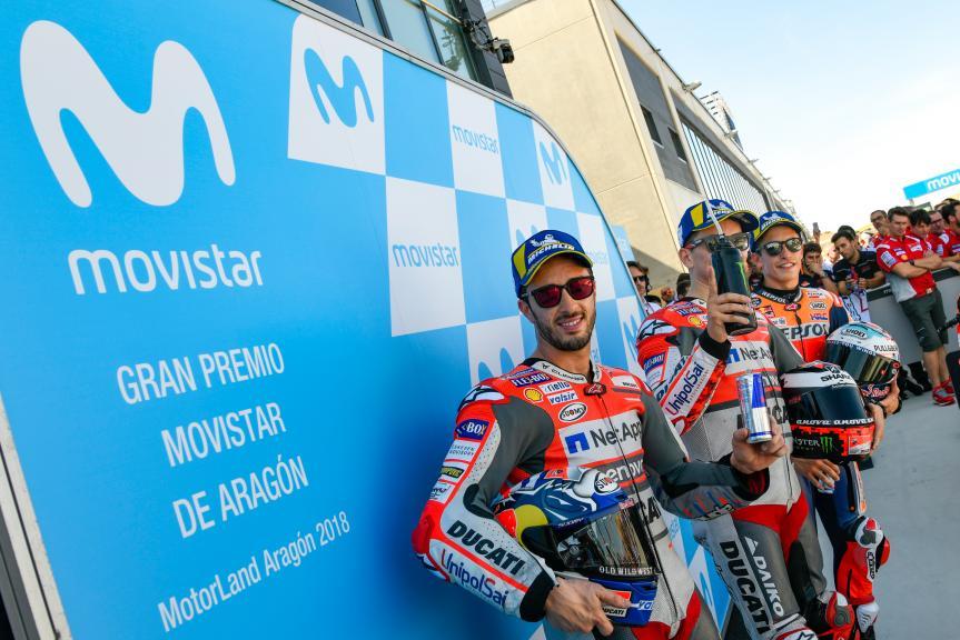 Jorge Lorenzo, Andrea Dovizioso, Marc Marquez, Gran Premio Movistar de Aragón