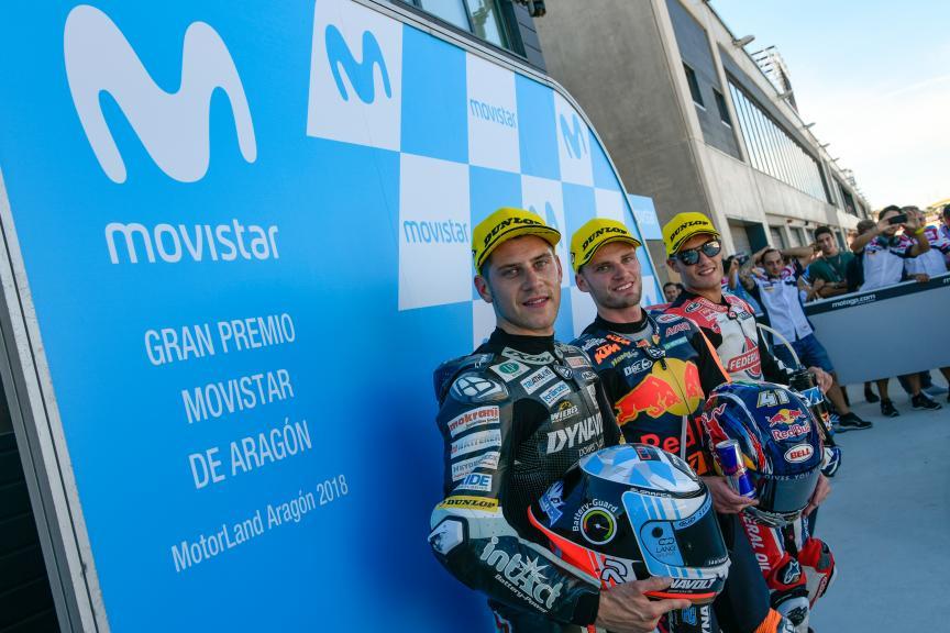 Brad Binder, Marcel Schrotter, Jorge Navarro, Gran Premio Movistar de Aragón