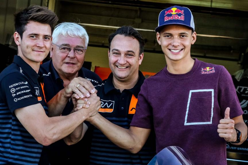 NTS RW Racing GP sign Bendsneyder and Odendaal