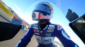 Watch the Moto3™ Warm Up session ahead of the main event at the Gran Premio Movistar de Aragon