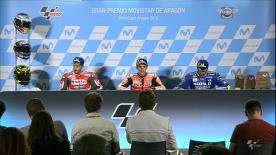 We hear from the podium finishers in the MotoGP™ race after another exciting Grand Prix