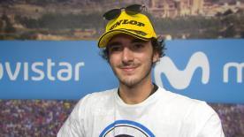 Der Fahrer vom Sky Racing Team VR46 feiert seinen 100. GP mit dem Podest. Er vergrößert damit seinen Vorsprung in der Weltmeisterschaft.