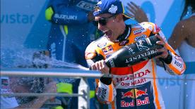 Marquez, Dovizioso and Iannone went to battle in a race filled with drama from the off