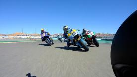 Der Start zum MotoGP™ Rennen im Motorland Aragon aus Sicht unterschiedlichster Piloten