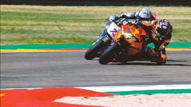 Some of the best overtaking moves from the Moto2™ & Moto3™ races at the Misano World Circuit Marco Simoncelli and MotorLand Aragón  1. Miguel Oliveira (Moto2) 97 points 2. Jakub Kornfeil (Moto3) 81 points 3. Andrea Migno (Moto3) 77 points 4. Dennis Foggia (Moto3) 76 points 5. Steven Odendaal (Moto2) 67 points