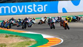The full Moto2™ race at the Gran Premio Movistar de Aragon at MotorLand Aragon