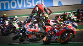 Dreams shattered for the Ducati rider at his home GP in Aragon