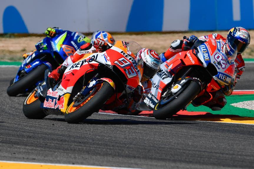 Andrea Dovizioso, Ducati Team, Marc Marquez, Repsol Honda Team, Gran Premio Movistar de Aragón