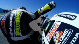 Relive the Brit's crash from all angles as he hit the gravel at MotorLand Aragon