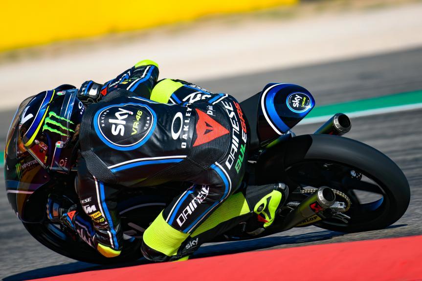 Nicolo Bulega, Sky Racing Team VR46, Aragón Moto2 & Moto3 Official Test