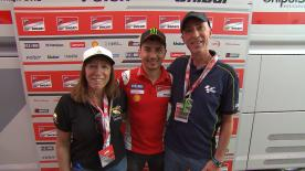 Jorge Lorenzo and Andrea Dovizioso hosted special guests in their box at Aragon, who bid highest in the official MotoGP™ charity event