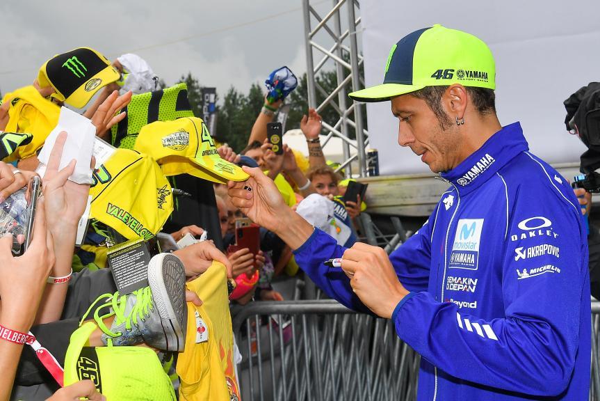 Valentino Rossi signing autographs