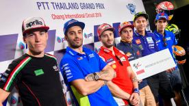 Alle Aussagen der Fahrer und die Antworten auf die Social-Media-Fragen vor dem Thailand GP