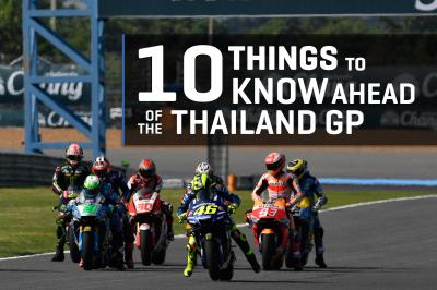 10 things to know ahead of the PTT Thailand GP