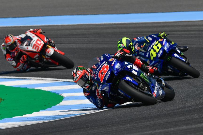 Maverick Viñales, Valentino Rossi, Movistar Yamaha MotoGP, PTT Thailand Grand Prix