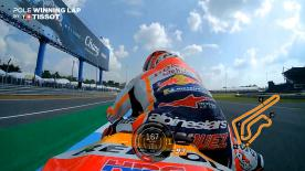Relive the Respol Honda rider's pole-winning lap at the Chang International Circuit