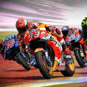 Aus Q1 auf Pole: Marquez schlägt Rossi in Q2 in Buriram
