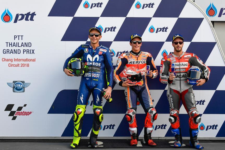 Marc Marquez, Valentino Rossi, Andrea Dovizioso, PTT Thailand Grand Prix