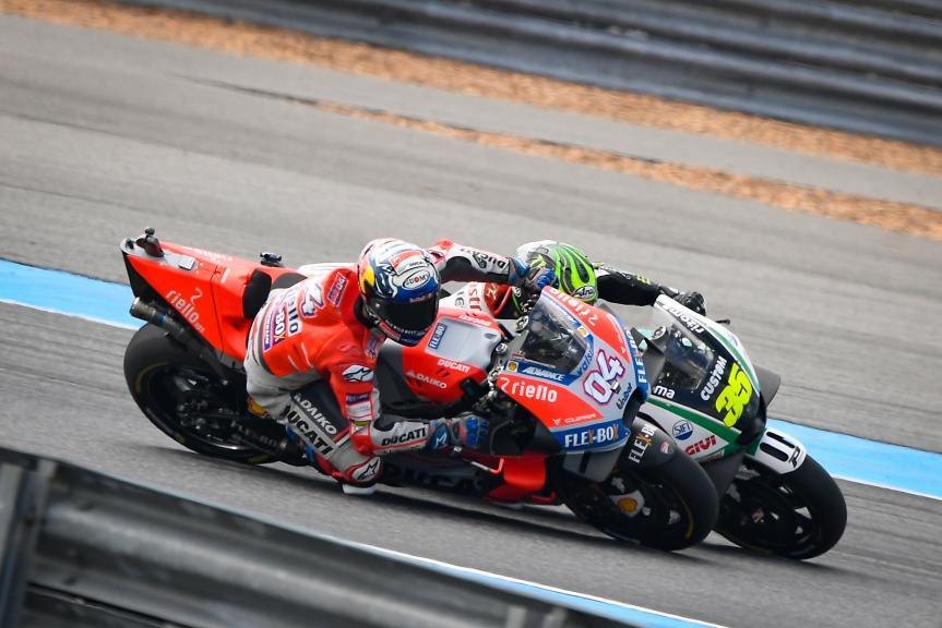 Andrea Dovizioso, Ducati Team, Cal Crutchlow, LCR Honda Castrol, PTT Thailand Grand Prix