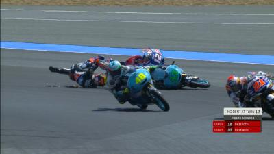 VIDEO GRATIS: l'incidente che può decidere la Moto3™