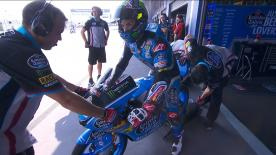 Watch the Moto3™ Warm Up session ahead of the main event at the PTT Thailand Grand Prix