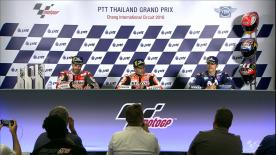 We hear from the podium finishers in the MotoGP? race after another exciting Grand Prix
