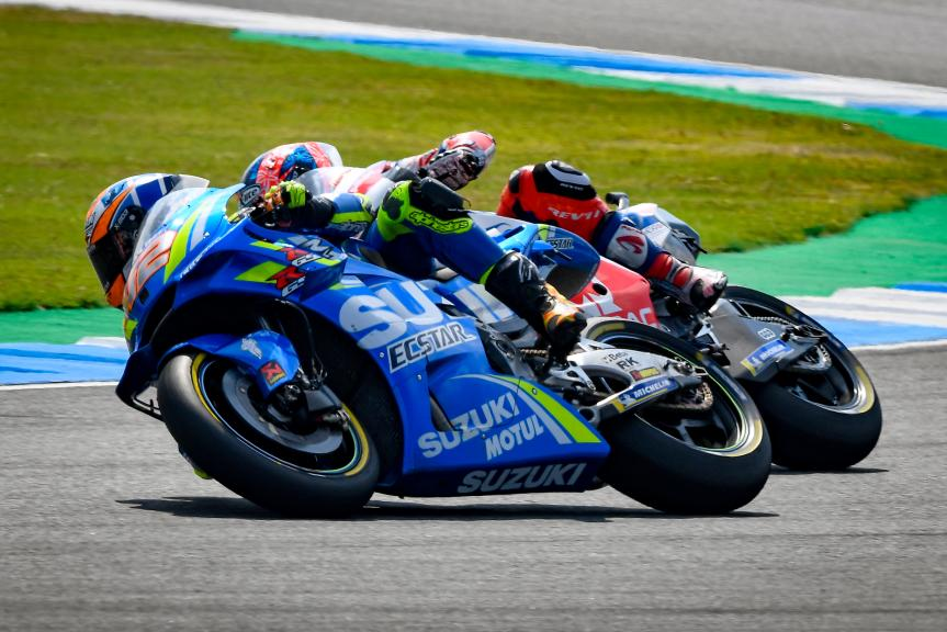 Alex Rins, Team Suzuki Ecstar, Danilo Petrucci, Alma Pramac Racing, PTT Thailand Grand Prix