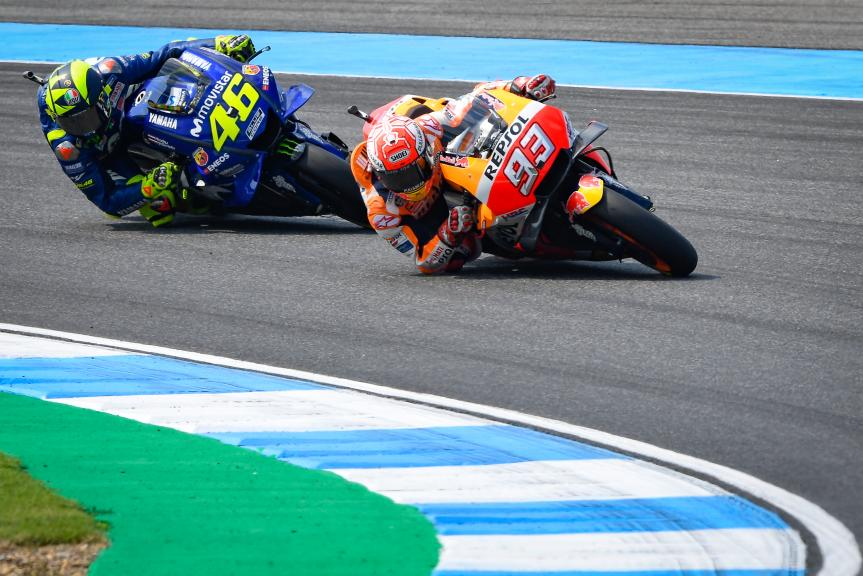 Marc Marquez, Repsol Honda Team, Valentino Rossi, Movistar Yamaha MotoGP, PTT Thailand Grand Prix