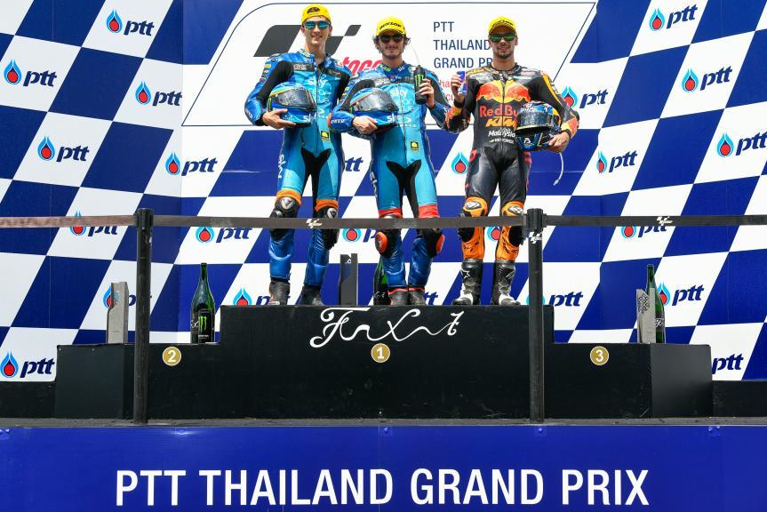 Francesco Bagnaia, Luca Marini, Miguel Oliveira, PTT Thailand Grand Prix