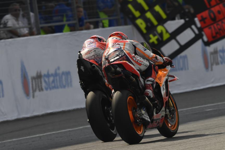 Andrea Dovizioso, Marc Marquez, PTT Thailand Grand Prix