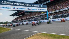 All the action from round 15 of the MotoGP? World Championship at the Chang International Circuit