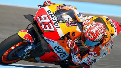 Marquez leads Rossi, Viñales in Buriram Warm Up