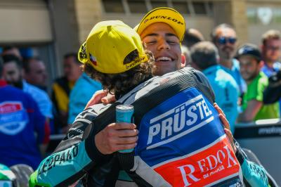 Bezzecchi and Bastianini: sportsmanship prevails