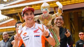 Take a look at some of the more light-hearted moments on track, in the paddock and behind the scenes from the PTT Thailand Grand Prix