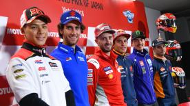 L'appuntamento con i media internazionali apre il fine settimana del Motul Grand Prix of Japan